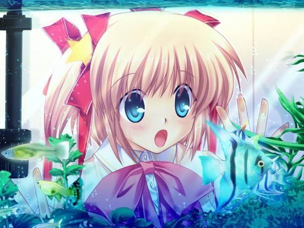 Little Busters | Komari and the fish tank