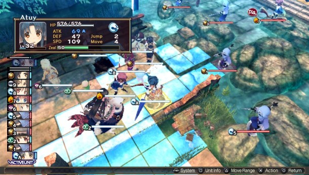 Utawarerumono: Mask of Deception I Grid