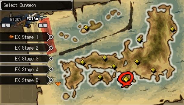 Cladun Returns | Dungeon selection map