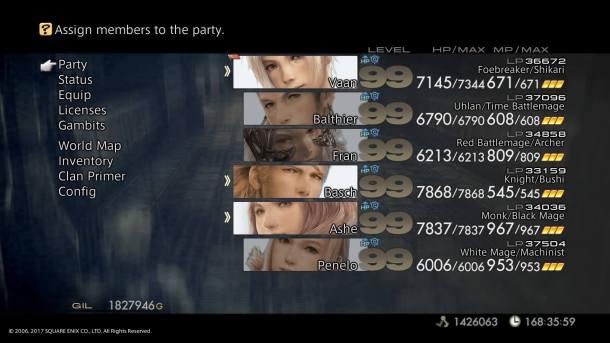 Final Fantasy XII The Zodiac Age   Job Combinations