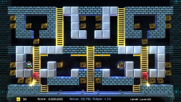 Lode Runner: Legacy | A custom level I made.