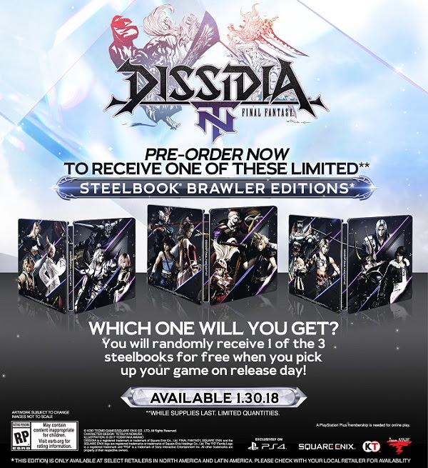 Dissidia Final Fantasy NT - Steelbook Edition Designs