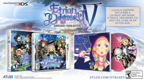 Etrian Odyssey V Launch Edition