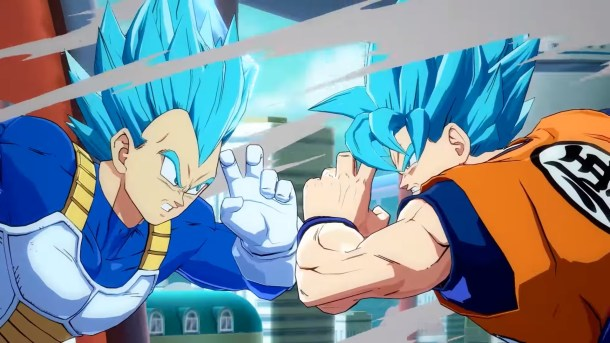 Dragon Ball FighterZ SSGSS Goku and Vegeta