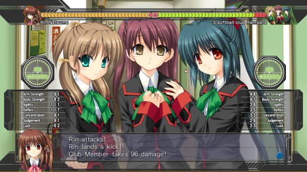 Little Busters! English Edition combat scene