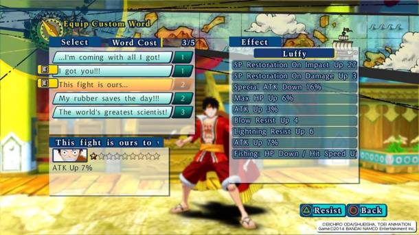 One Piece: Unlimited World Red Deluxe Edition | Words