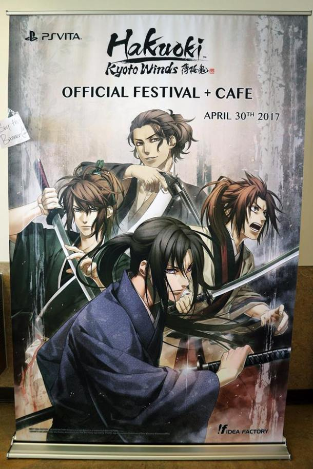 Hakuoki: Kyoto Winds | Festival + Cafe Banner