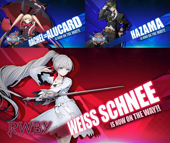BlazBlue Cross Tag Battle Rachel, Hazama, Weiss Intro