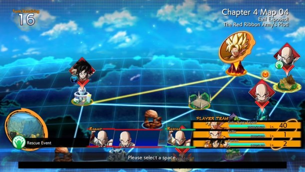 Dragon Ball FighterZ story mode map