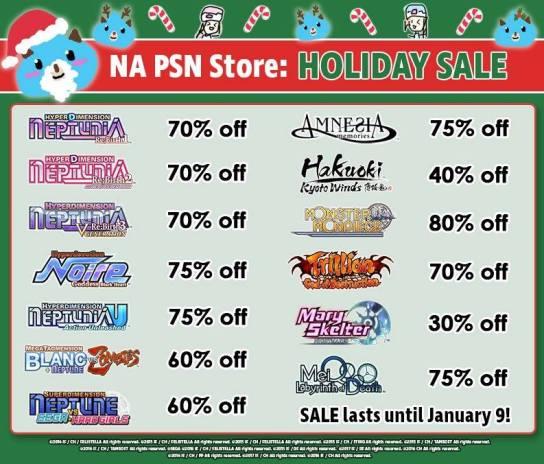 PSN Holiday Sale