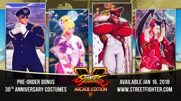 Street Fighter V | 30th Anniversary Costumes
