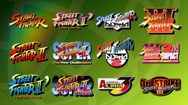 Street Fighter 30th Anniversary Collection games