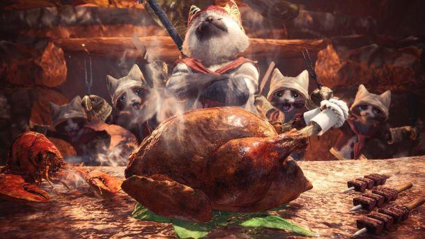 Monster Hunter World | Mewscular chef