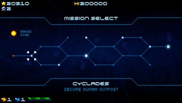 Super Hydorah | Mission Select