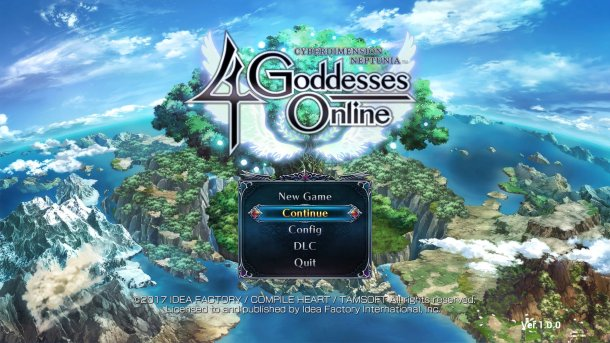 Cyberdimension Neptunia 4 Goddesses Online Title Screen