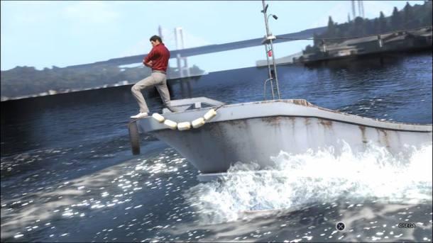 Yakuza 6 | I'm on a boat