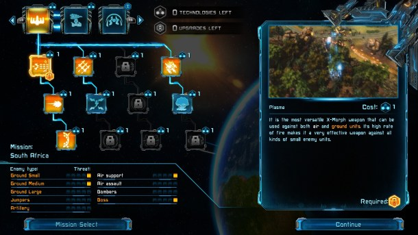 X-Morph: Defense | Tech trees