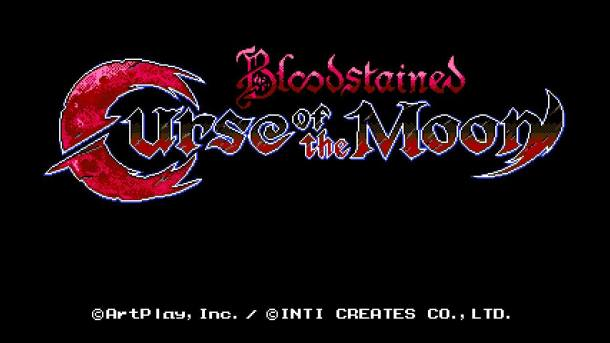 Bloodstained Curse of the Moon | Title Screen