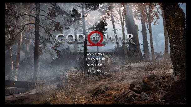 God of War Title Screen