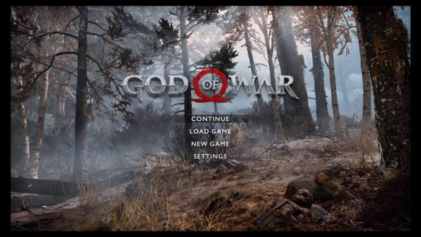 God of War Title Screen
