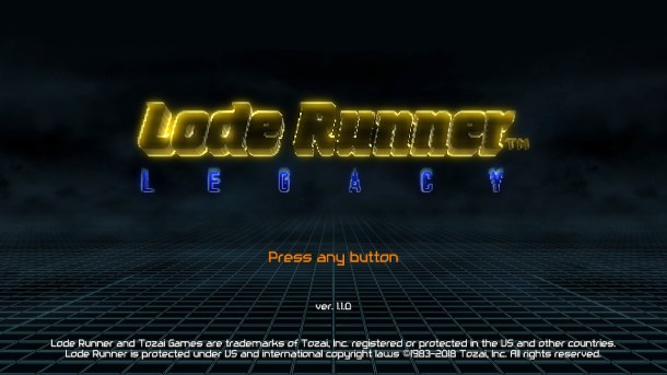 oprainfall | Lode Runner Legacy (Switch)