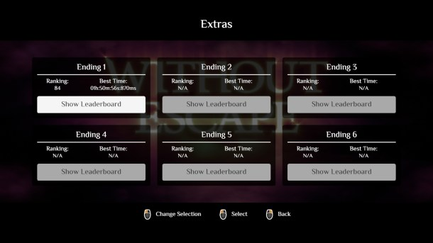 Without Escape   Leaderboards