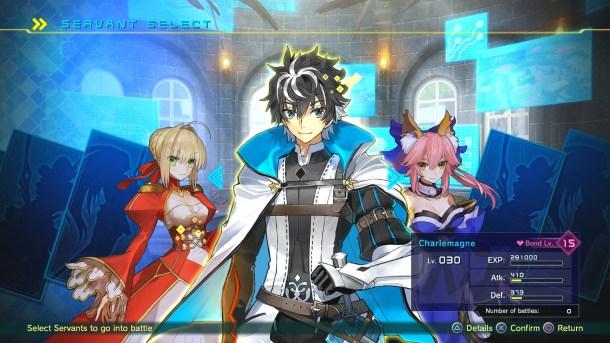 Fate/EXTELLA Link | Servant Select