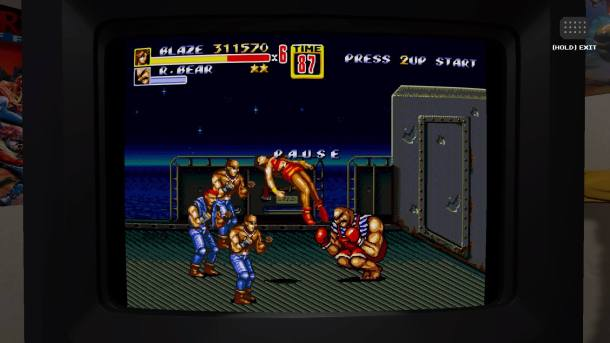SEGA Genesis Classics | Streets of Rage on CRT