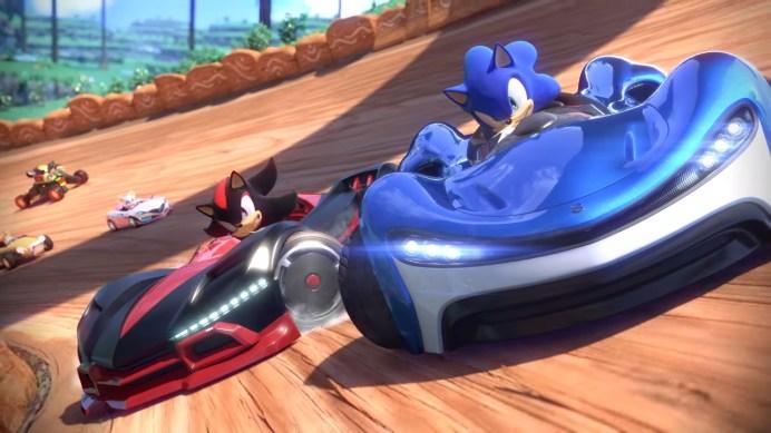 Team Sonic Racing Sonic and Shadow