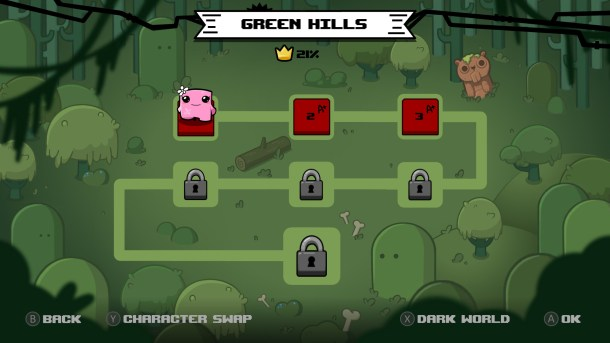 Super Meat Boy Forever | Level Select