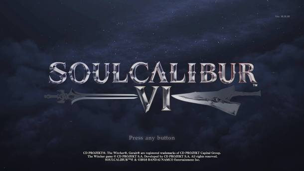 Soul Calibur VI Title Screen