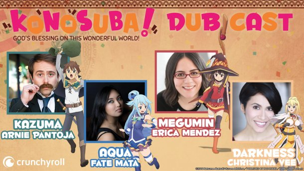 KonoSuba | Season 1 English Dub Cast