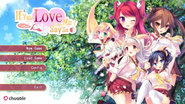 If You Love Me Title Screen