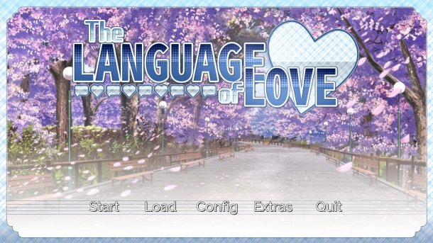 The Language of Love | Menu