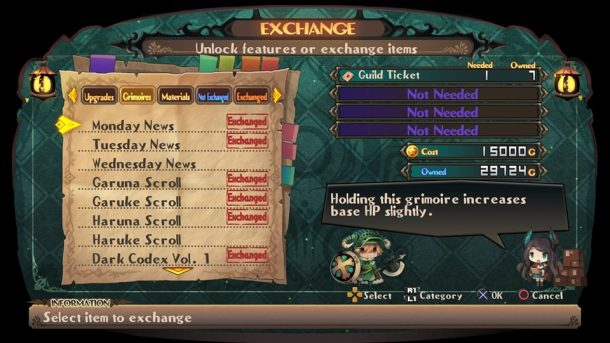Lapis X Labyrinth | Exchange