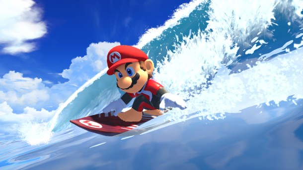 Mario & Sonic At The Olympic Games: Tokyo 2020   Mario Surfing