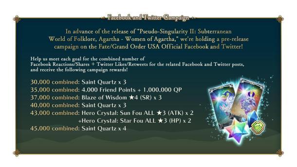 Fate/Grand Order | Pseudo-Singularity II Pre-release Campaign