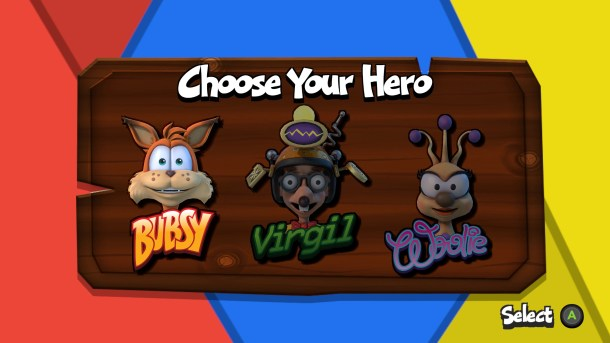 Bubsy: Paws on Fire | Character Selection