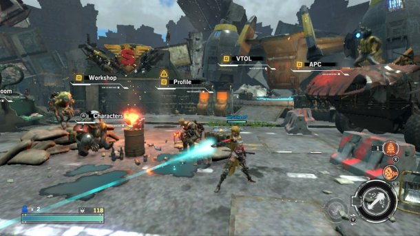 Contra: Rogue Corps   Hub Base