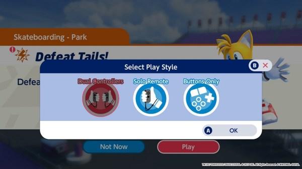 Mario & Sonic | Control Options