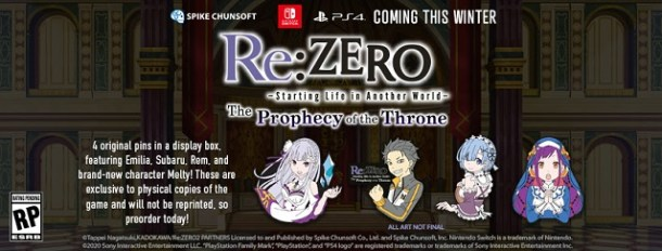 Re:ZERO - Starting Life in Another World - The Prophecy of the Throne Pins