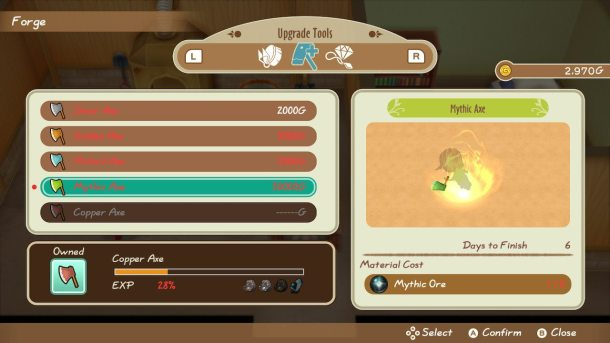 Story of Seasons: Friends of Mineral Town | Axe