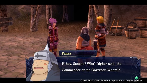 Ys: Memories of Celceta | Sancho and Panzo discussing Griselda right in front of her