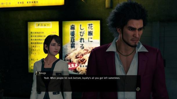 Yakuza: Like a Dragon   Ichiban talks with Saeko.