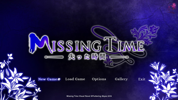 Missing Time | Title Screen