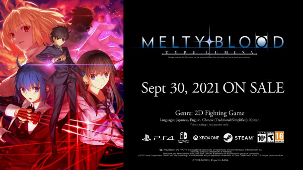 Melty Blood: Type Lumina | Release Date