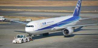 Самолет японской авиакомпании All Nippon Airways (ANA)