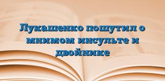 Лукашенко пошутил о мнимом инсульте и двойнике