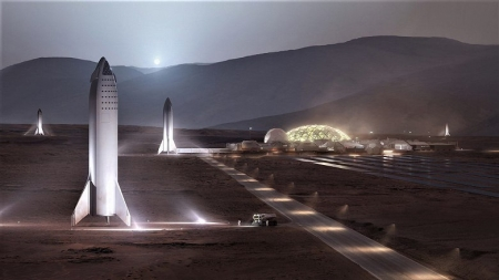 Опубликовано изображение базы на Марсе 1