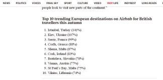 Британские туристы выбрали для осенних путешествий Киев